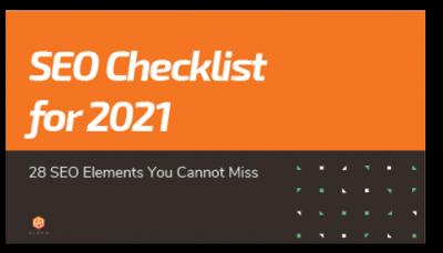 SEO checklist front cover